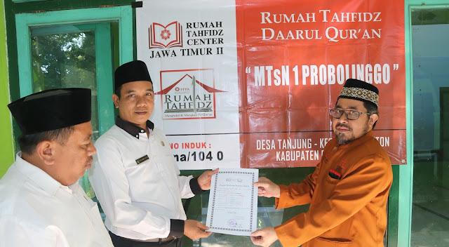 MTsN 1 Probolinggo Resmi Terdaftar Sebagai Rumah Tahfidz Mandiri