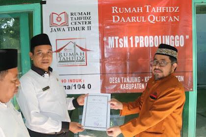 MTsN 1 Probolinggo Resmi Terdaftar Rumah Tahfidz Mandiri