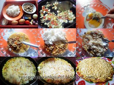 Cara Membuat Omelet Nasi Keju