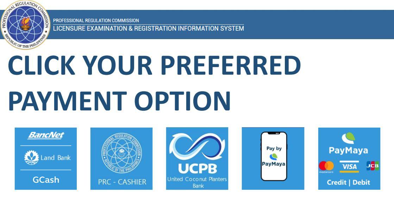 payment option PRC