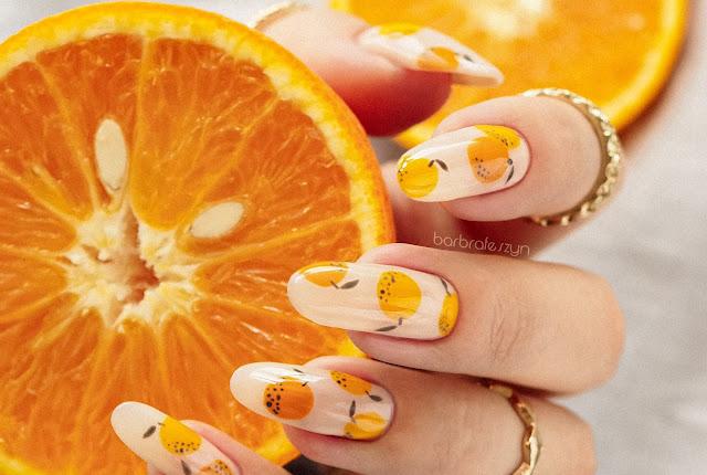 Paznokcie w pomarańcze + tutorial | Pierre Rene