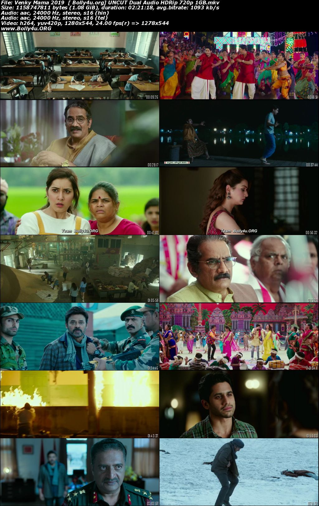 Venky Mama 2019 HDRip 400MB UNCUT Hindi Dual Audio 480p Download