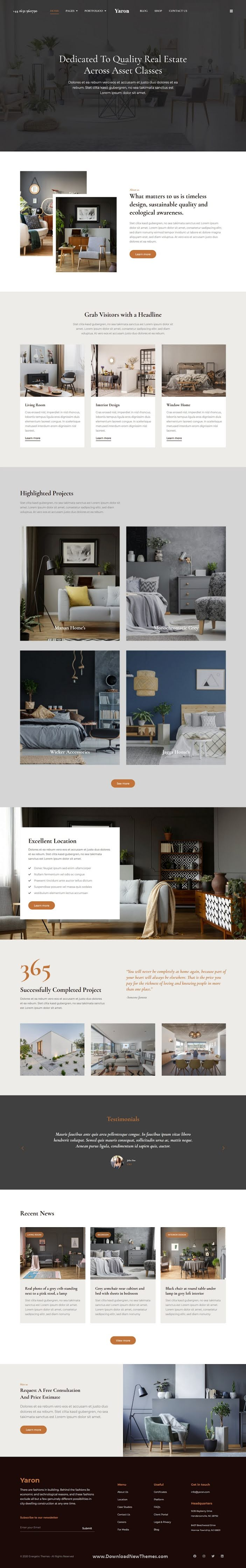 Real Estate and Interior Design Elementor Template kit