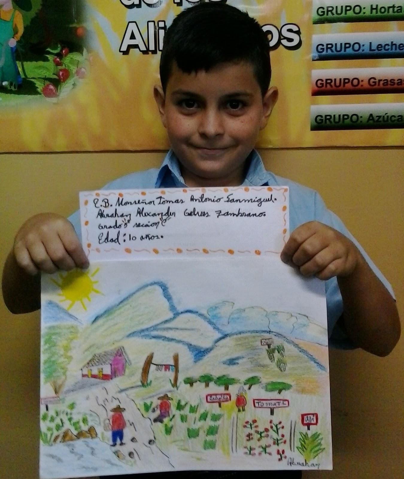 Escuela Bolivariana Monsenor Tomas Antonio Sanmiguel Concurso De Carteles Del Dia Mundial De La Alimentacion