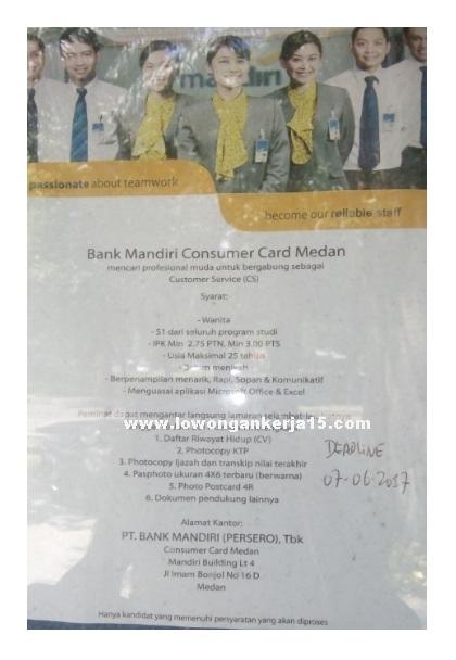 Lowongan Bank Mandiri Persero