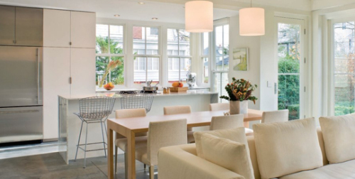 2013 Home Decorating Design trends, open floor plan, kitchen ideas
