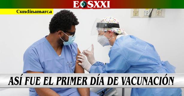 Se superó la cifra proyectada en el primer día de aplicación de vacunas