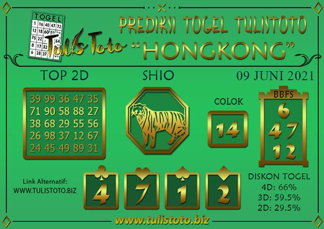 Prediksi Togel HONGKONG TULISTOTO 09 JUNI 2021