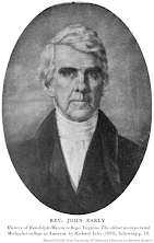 John Early portrait, History of Randolph-Macon college, Virginia. The oldest incorporated Methodist college in America, by Richard Irby (1898), following p. 18. Retrieved 2021 from University of California Libraries via Internet Archive.