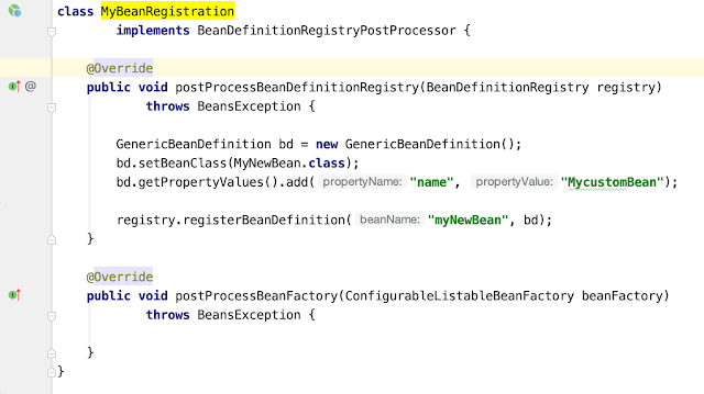 BeanDefinitionRegistryPostProcessor - Spring Boot Bean Registration Runtime Example