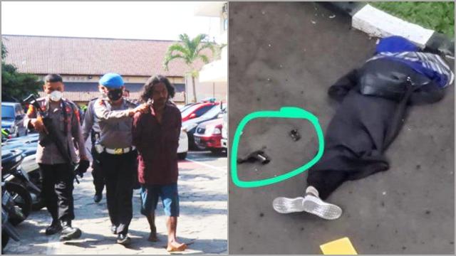 Terobos Mapolres, Pria Bergolok Tak Ditembak Mati seperti Zakiah Aini, Netizen: Untung Gak Pakai Cadar