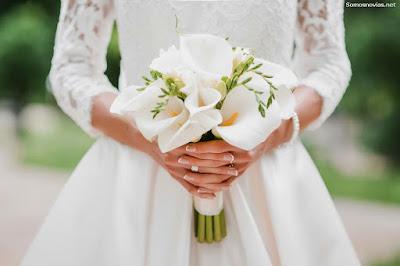 Uñas de novia decoradas