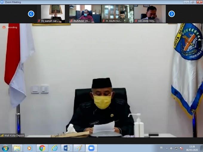 Walikota Ikuti Rapat Paripurna DPRD Depok Secara Virtual