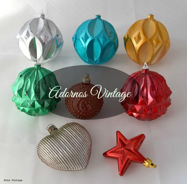 navidad, decoracion navideña, adornos, arbol, aluminio, juego de agua, jarra vintage, vasos retro