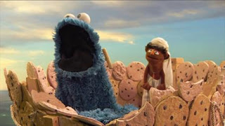 Cookie's Crumby Pictures Life of Whoopie Pie, cookie monster. Sesame Street Episode 4417 Grandparents Celebration season 44
