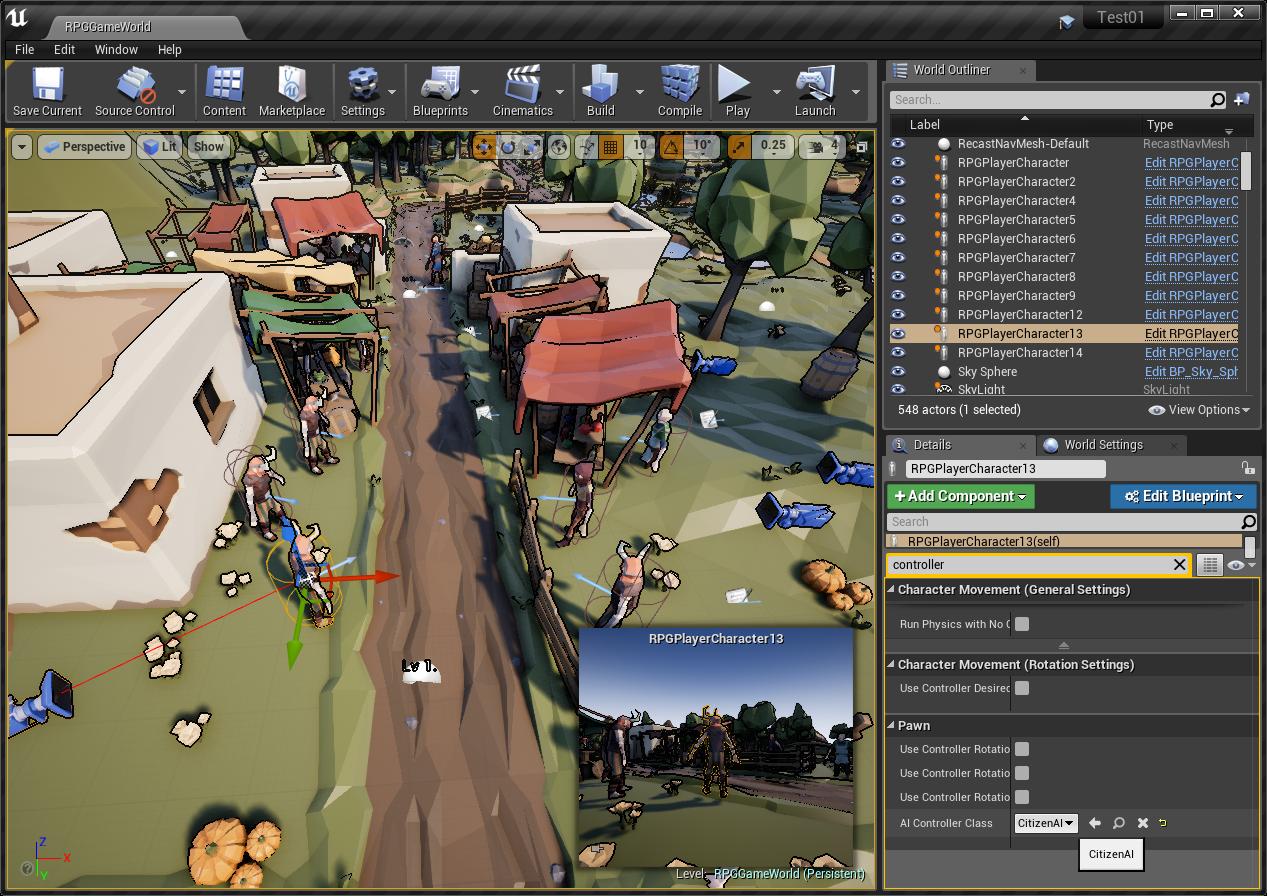 Behavior Tree' basic tutorial for RPG citizen   Game Engine