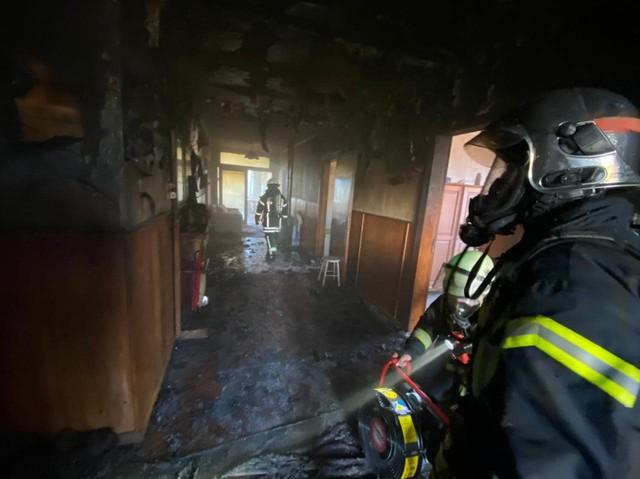 Fuego afectó inmueble de la ciudad de Río Bueno