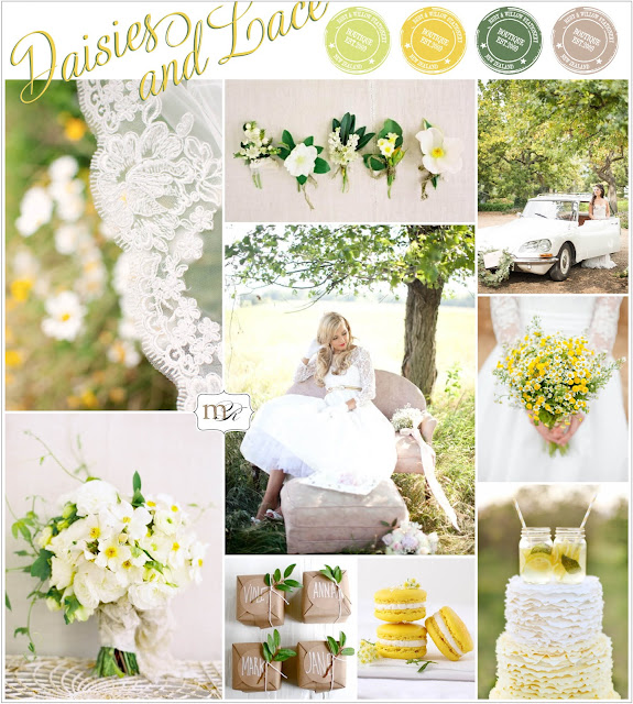 daisies and lace spring green and yellow inspiration board by magnolia rouge on oh lovely day