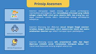 Prinsip Asesmen. Hal-hal yang perlu dipahami guru dan pendidik mengenai asesmen antara lain adalah