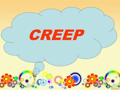 مصطلحات الفعل Creep في اللغة الإنجليزية