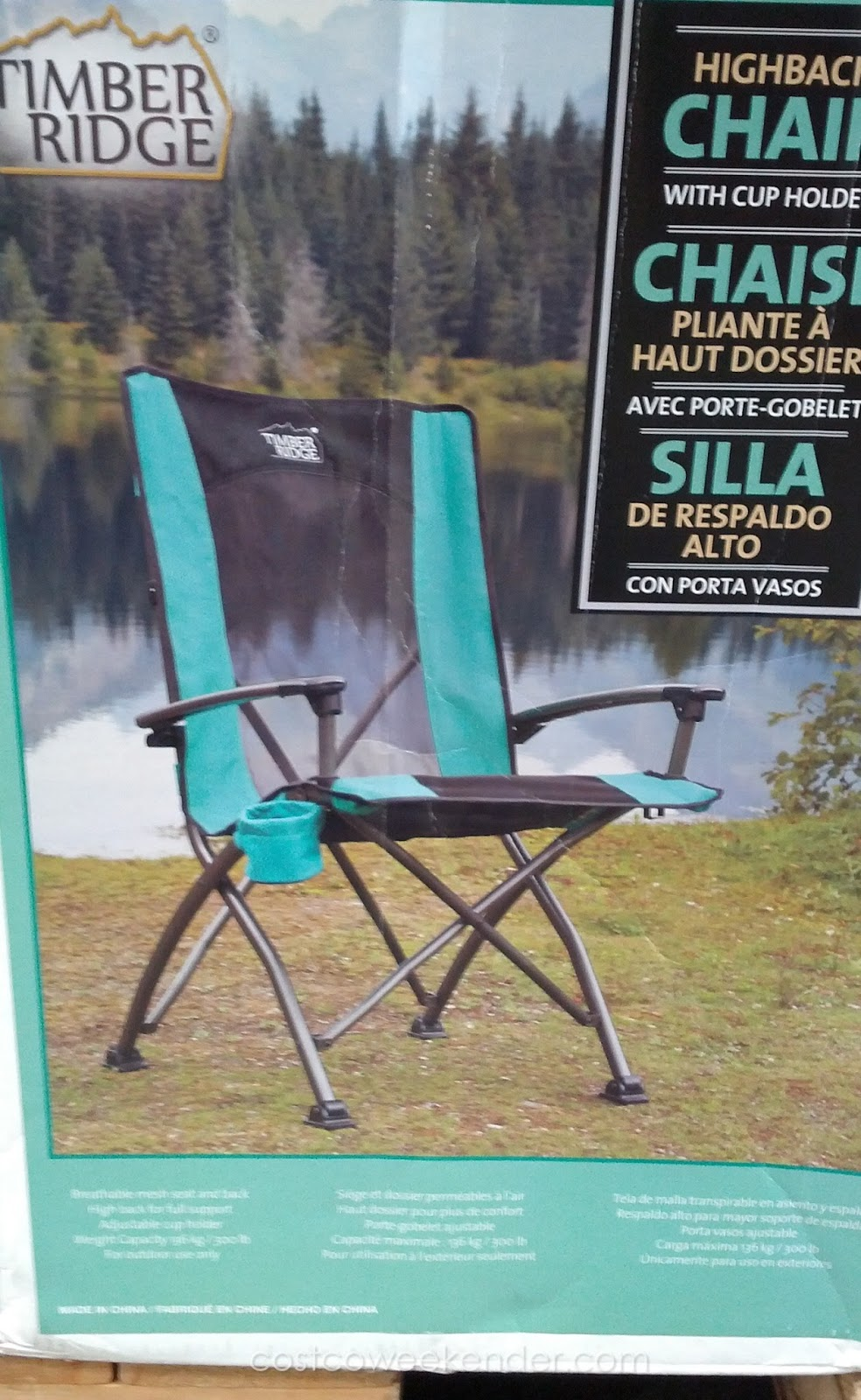 Timber Ridge High Back Quad Chair Costco Weekender
