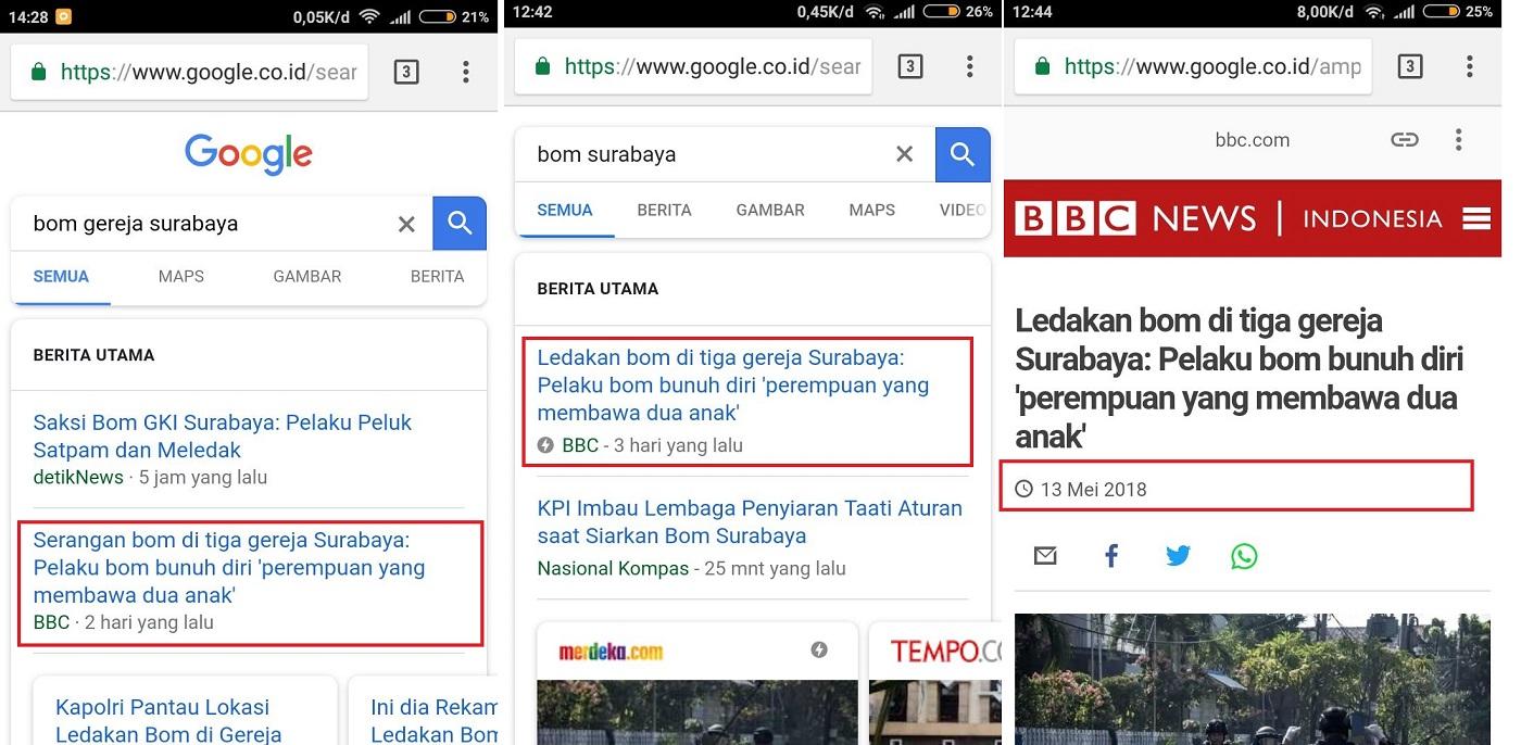 Keanehan Berita BBC Tentang Bom Gereja Surabaya
