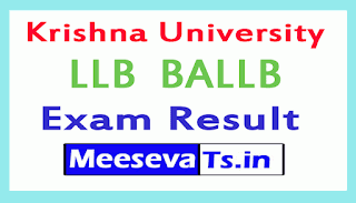 Krishna University LLB  BALLB Exam Results