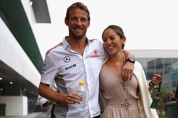 Racer Jenson Button married his longtime girlfriend Jessica Michibata