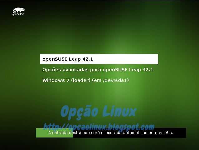 Tela do GRUB em dual boot com o Windows 7