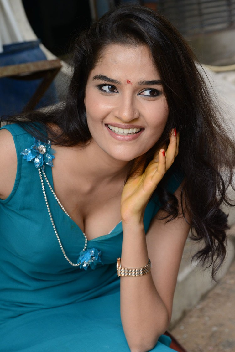 Naughty hot Sneha thakur in blue sleeveless full length maxi design dress