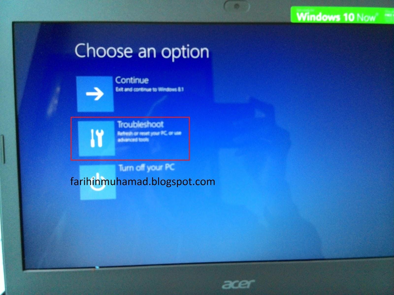 Cara Reset Factory Setting Laptop Acer E 14 Farihin S Blog