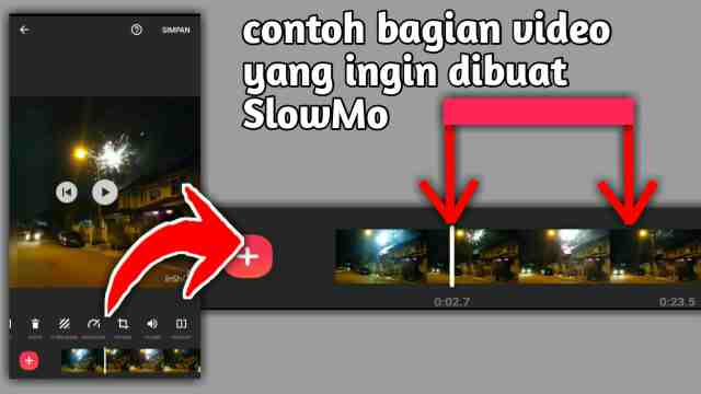 cara membuat video slowmotion di inshot