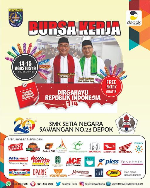 JOBFAIR SMK Setia Negara Depok Bulan Agustus 2019
