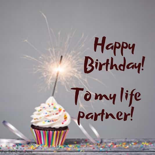 happy birthday to my life partner