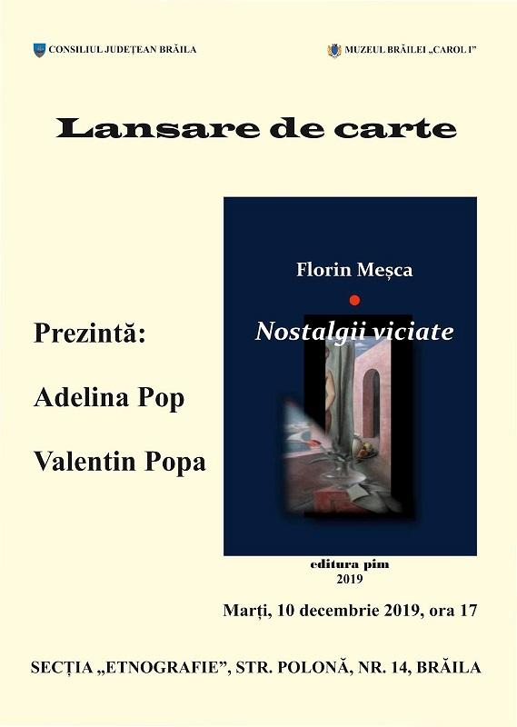 """LANSARE DE CARTE LA MUZEUL BRĂILEI """"CAROL I"""", Florin Mesca"""