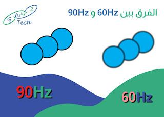 الفرق بين 60Hz و 90Hz