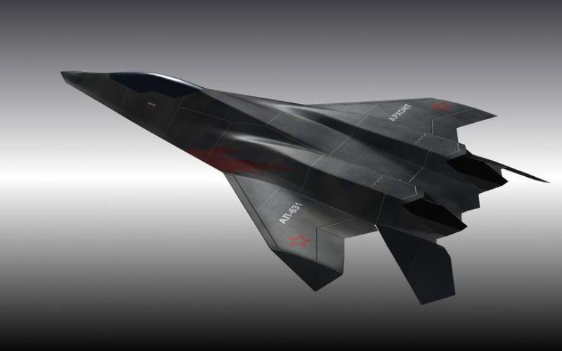 Ilustrasi pesawat tempur generasi keenam Rusia