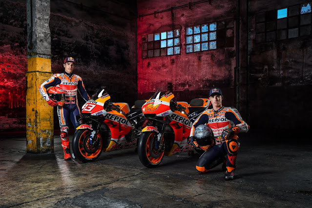 Ini Livery RC213V Honda Repsol Musim MotoGp 2021
