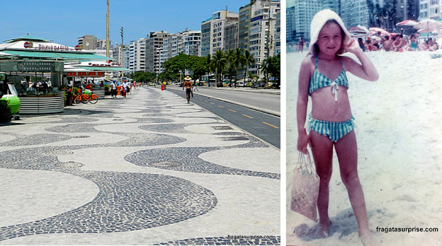 Calçadão da Avenida Atlântica, Praia de Copacabana, Rio de Janeiro