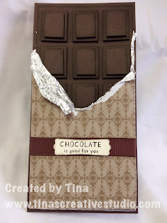 dark chocolate block card