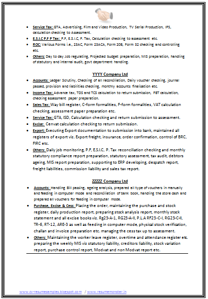 resume samples with free download b com resume format for experienced