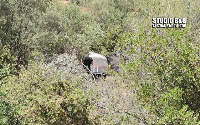 Αργολίδα: Πτώση αυτοκινήτου σε γκρεμό στην παλαιά εθνική οδό Άργους Τριπόλεως