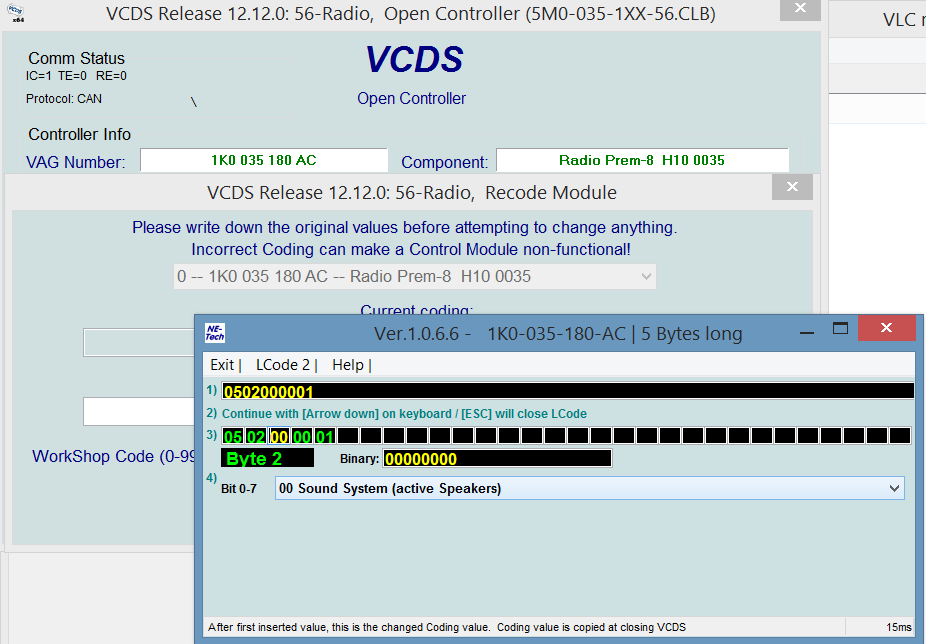VCDS audio settings - better & flatter - TDIClub Forums