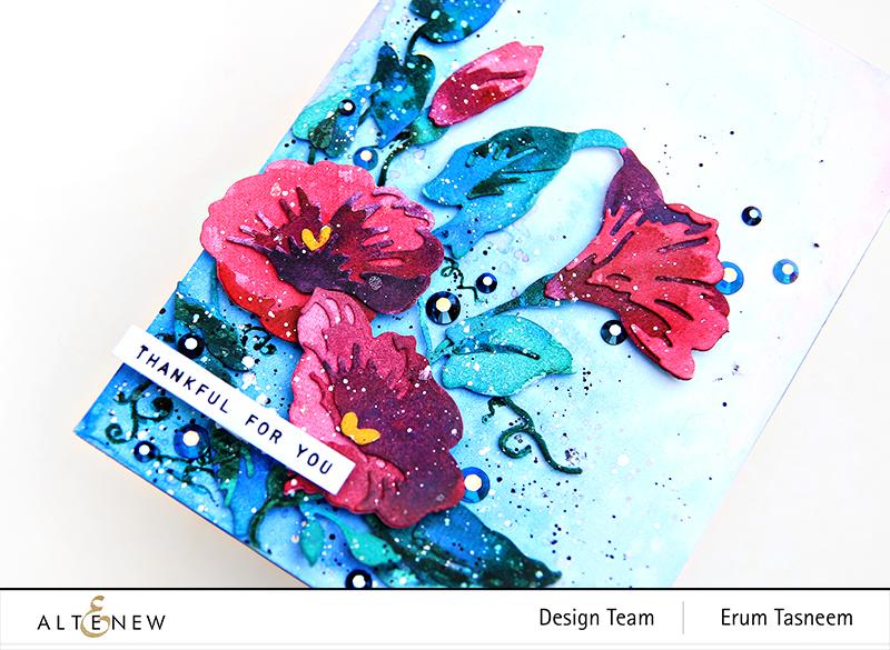 Altenew Craft-A-Flower: Morning Glory   Erum Tasneem   @pr0digy0