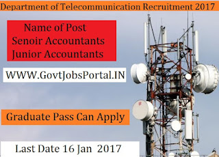 Department of Telecommunications Recruitment 2017 for senior Officer