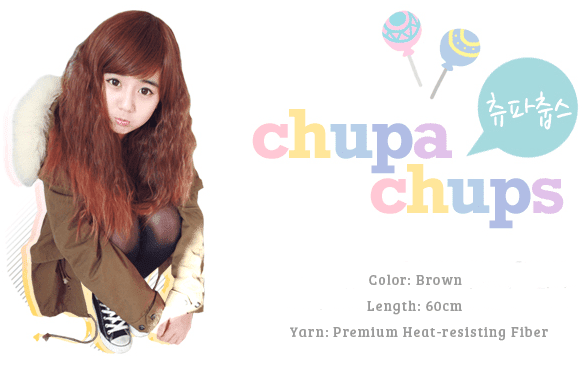 Korean Fashion Beauty Wig - Chupa Chups Color Brown Model 1