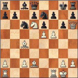 Partida de ajedrez Antoni Puget - J. Marimón, 1959, posición después de 17.f5!!