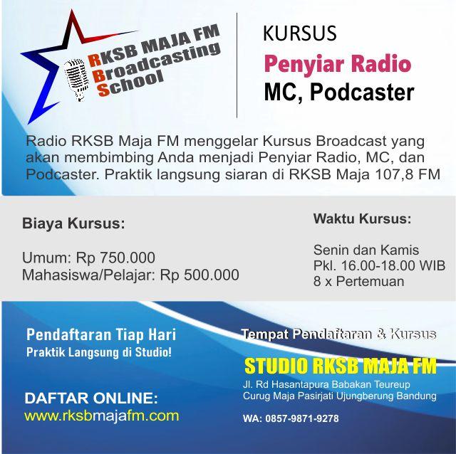 kursus penyiar radio mc podcaster
