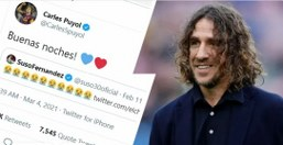 Puyol mock back Suso for showing lack of respect towards Pedri on Twitter