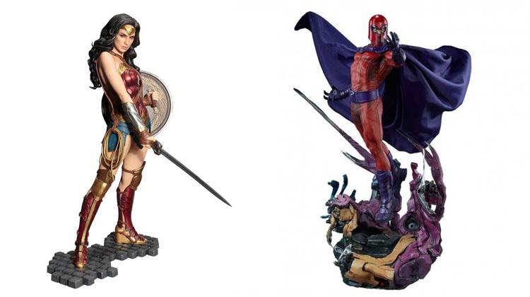 Wonder Woman y Magneto en dos figuras para coleccionistas